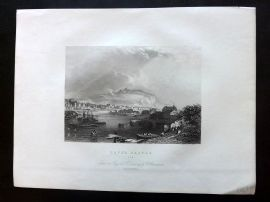 After Brandard 1834 Antique Print. Dover Castle, Kent